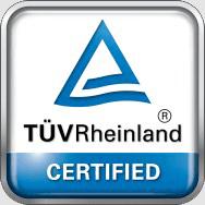 TUVRh Certifide Logo